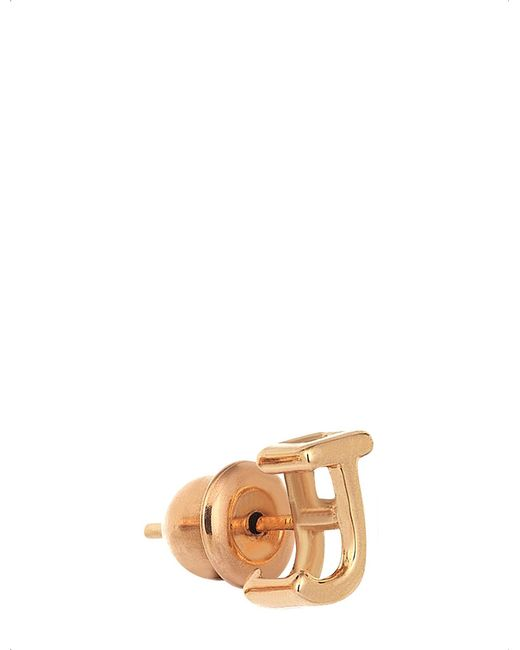 The Alkemistry | Metallic 14ct Rose-gold J Initial Stud Earring | Lyst