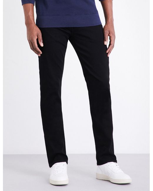 PAIGE - Black Federal Slim-fit Mid-rise Jeans for Men - Lyst