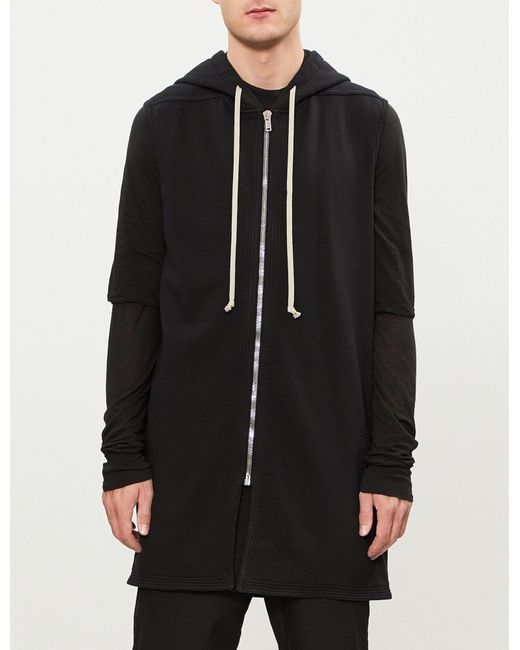 Order Cheap Online Rick Owens zipped hoody - Grey Big Sale Cheap Online Cheap Sale Deals u0xGQw