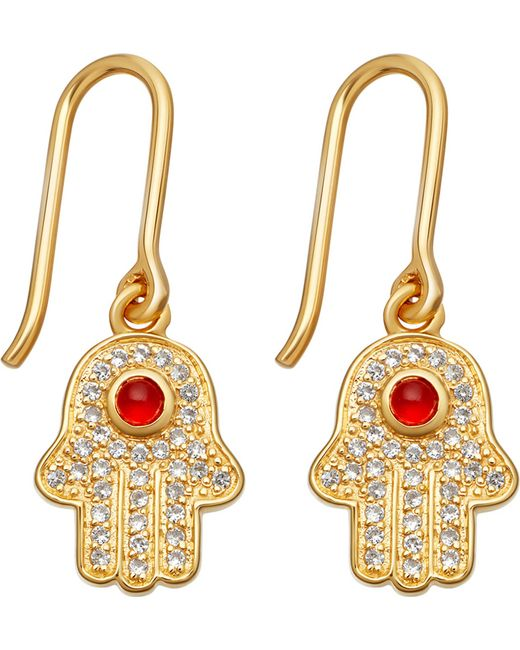 Astley Clarke | Multicolor Biography 18ct Yellow-gold Plated Hamsa Earrings | Lyst