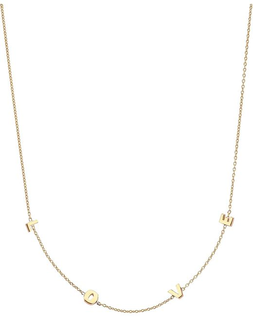 The Alkemistry | Metallic Love 14ct Rose-gold Necklace | Lyst