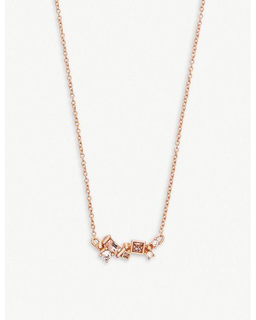 Kendra Scott - Metallic Gunner 14ct Rose Gold-plated Necklace - Lyst