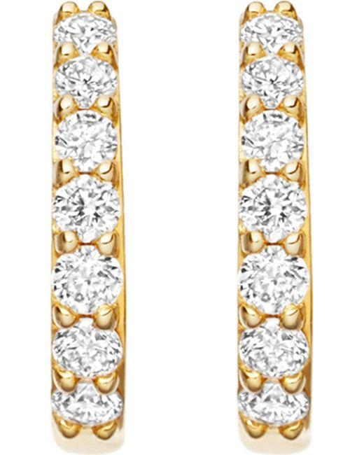 Astley Clarke - Metallic Mini Halo 14ct Rose-gold Diamond Hoop Earrings - Lyst