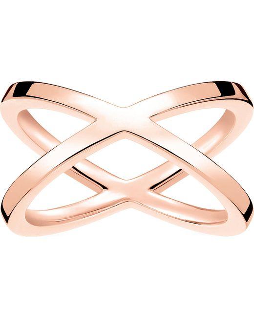 Thomas Sabo - Metallic Criss-cross 18ct Rose Gold-plated Ring - Lyst