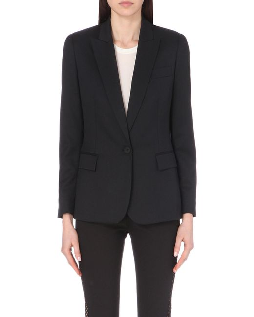 Stella McCartney | Black Ingrid Wool Blazer | Lyst