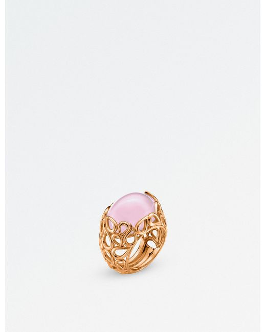 BUCHERER JEWELLERY - Pink Lacrima 18ct Rose-gold And Diamond Ring - Lyst