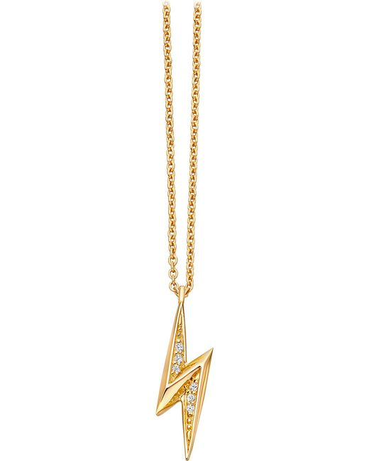 Astley Clarke - Metallic Mini Lightning Bolt 18ct Yellow-gold Plated Necklace - Lyst