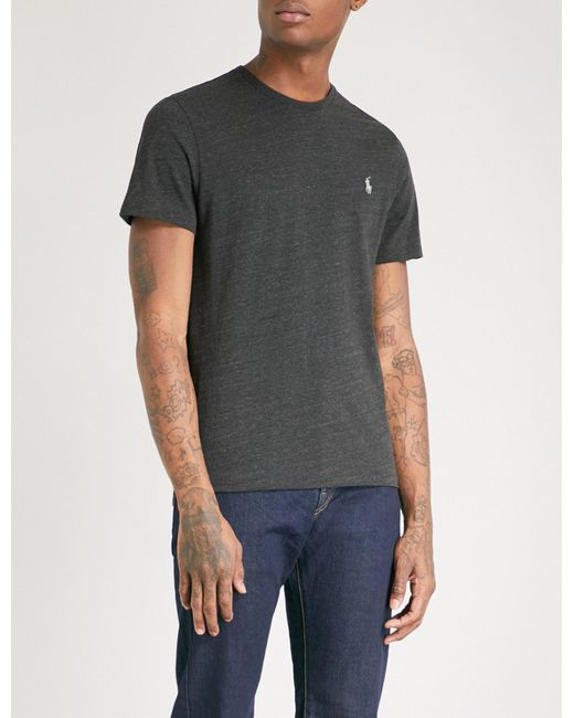 Polo Ralph Lauren - Black Logo-embroidered Cotton-jersey T-shirt for Men