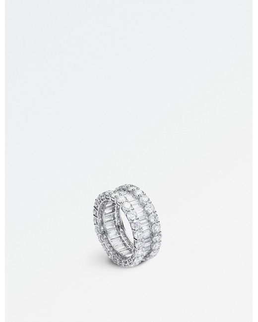 BUCHERER JEWELLERY - Classics 18ct White-gold Diamond Ring - Lyst