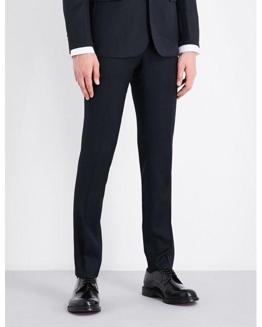 Sandro | Blue Tapered Birdseye Wool Trousers for Men | Lyst