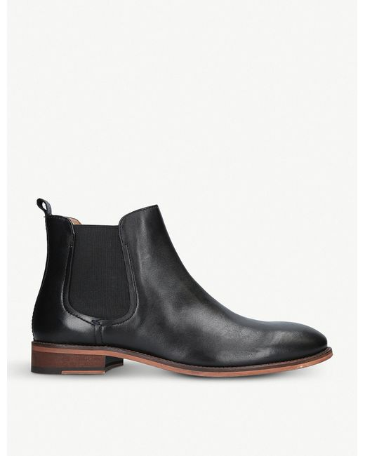 Kurt Geiger - Black Bennett Leather Chelsea Boots for Men - Lyst