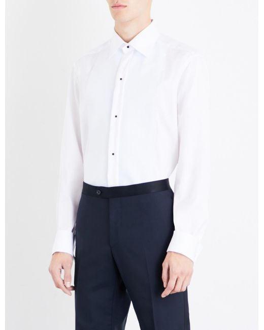 Eton of Sweden - Blue Textured-bib Contemporary-fit Cotton Shirt for Men - Lyst