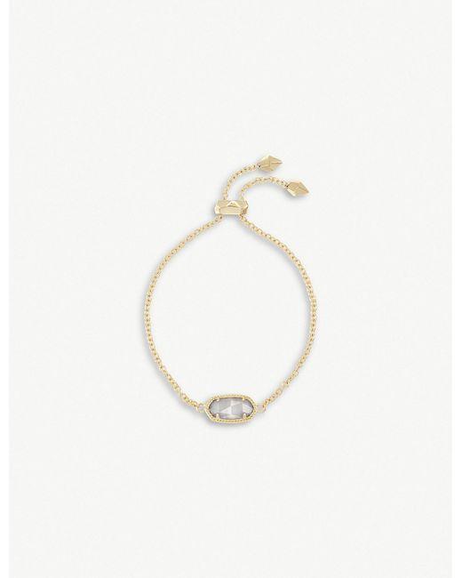 Kendra Scott - Metallic Elaina 14ct Gold And Slate Cat's Eye Chain Bracelet - Lyst