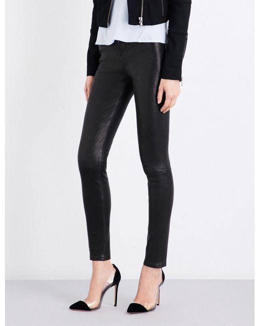 J Brand - Black Maria Skinny Leather Jeans - Lyst