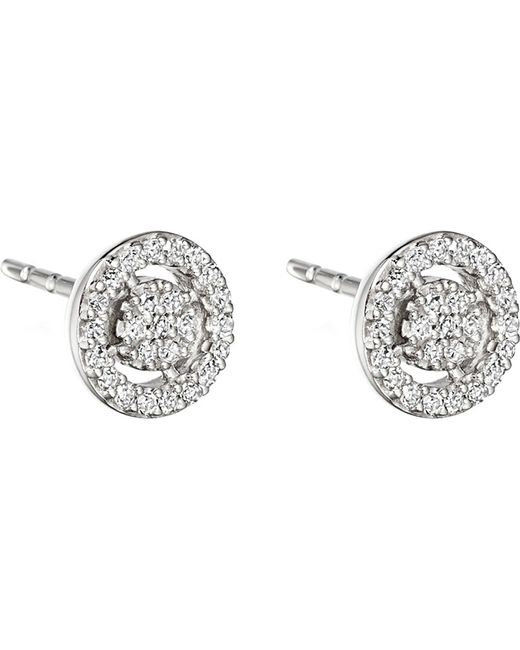 Astley Clarke - Metallic Mini Icon Aura 14ct White Gold And Diamond Stud Earrings - Lyst