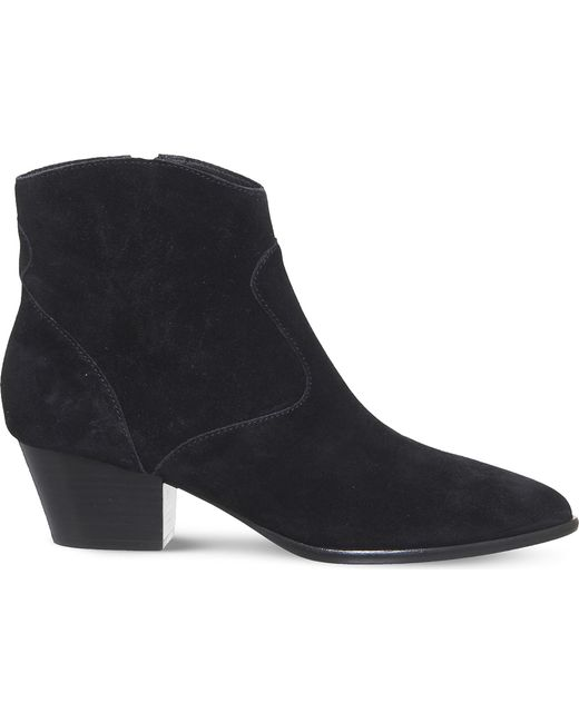 Ash - Black Heidi Bis Suede Ankle Boots - Lyst