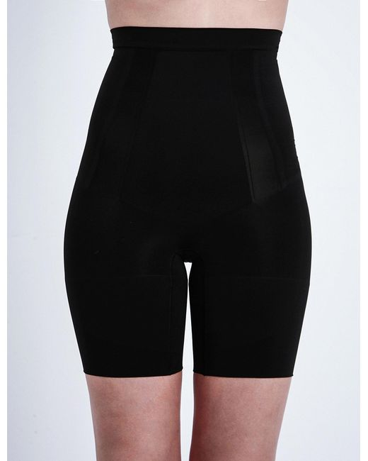 Spanx | Black Super Duper Mid-thigh Briefs | Lyst