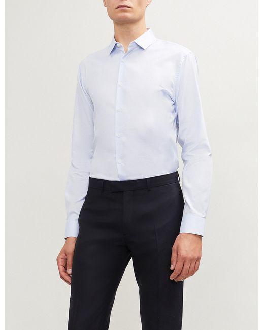 108ee93ac Men's Blue Classic-fit Cotton Shirt