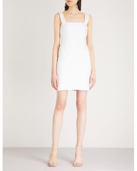 Galvan - White Salar Sequinned Mini Dress for Men - Lyst