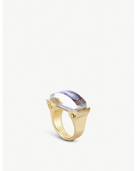 Kendra Scott - Metallic Jeanne 14ct Gold-plated Abalone Shell Cocktail Ring - Lyst