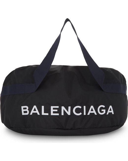 Balenciaga | Black Nylon Wheel Bag for Men | Lyst