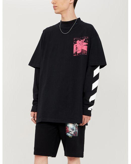 6ab5e339cfb Off-White c/o Virgil Abloh Skulls-print Cotton-jersey T-shirt in ...