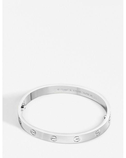 Cartier - Love 18ct White-gold Bracelet - Lyst