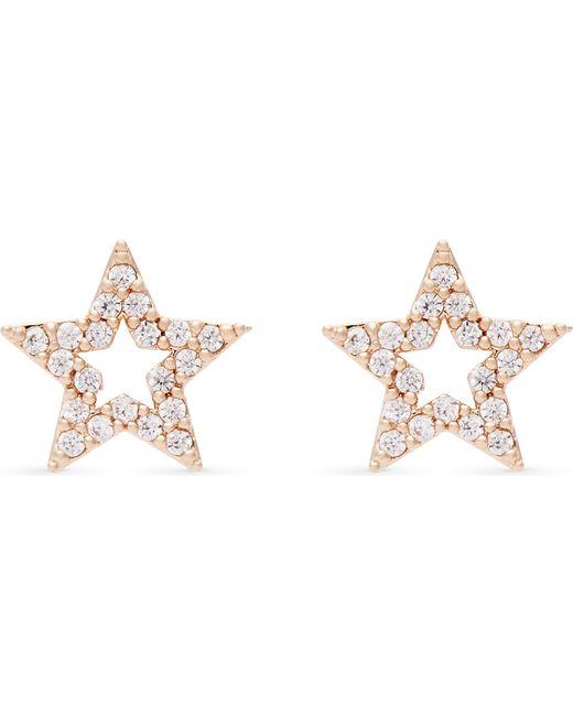 Astrid & Miyu - Metallic New Tricks Rose Gold Star Earrings - Lyst
