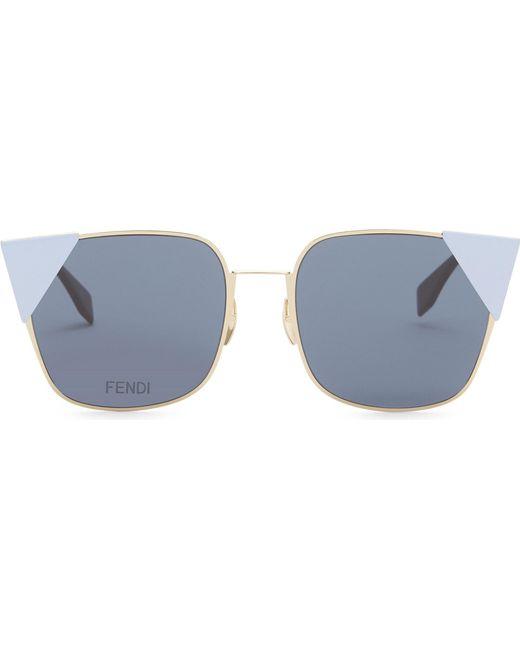 d06d64b8e58 Fendi Ff0191 Square-frame Sunglasses in Metallic - Lyst