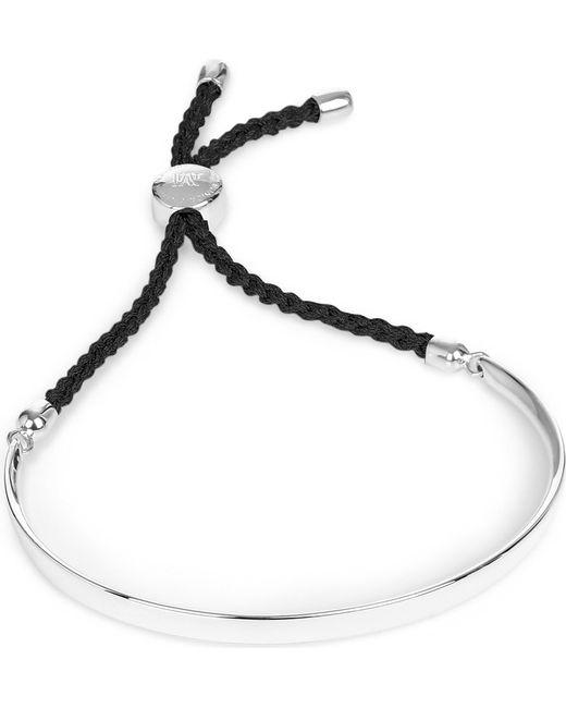 Monica Vinader - Black Fiji Sterling Silver Friendship Bracelet - Lyst