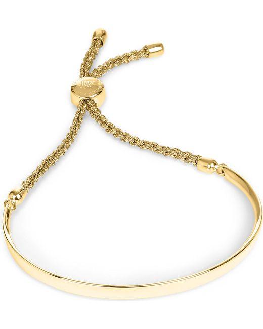Monica Vinader - Pink Fiji 18ct Gold-plated Friendship Bracelet - Lyst