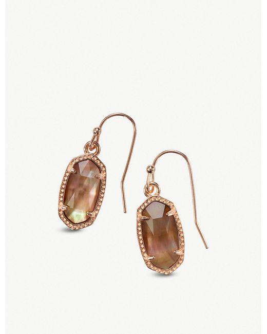 Kendra Scott - Metallic Lee Rose Gold Drop Earrings - Lyst