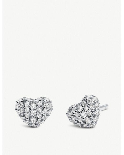 Michael Kors - Multicolor Stainless Steel Cubic Zirconia Stud Earrings - Lyst