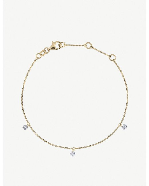 The Alkemistry - Metallic Triple Drilled Diamonds 18ct Yellow-gold And Diamond Bracelet - Lyst