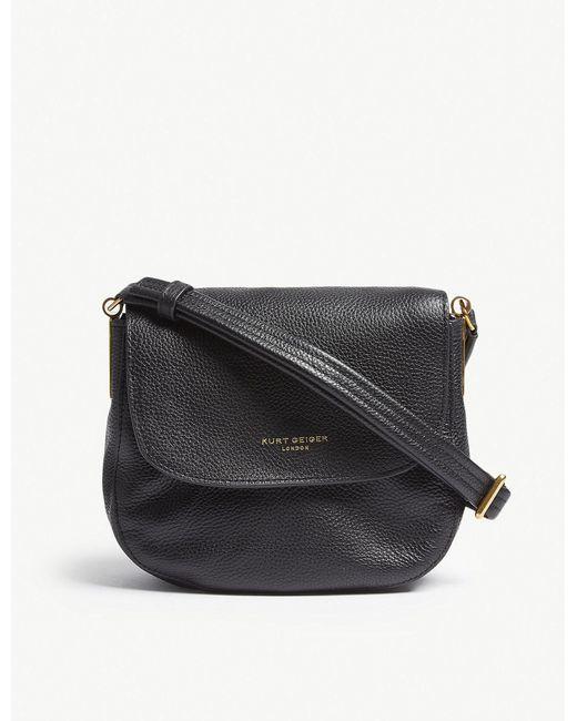 Kurt Geiger - Ladies Black Emma Leather Saddle Bag - Lyst