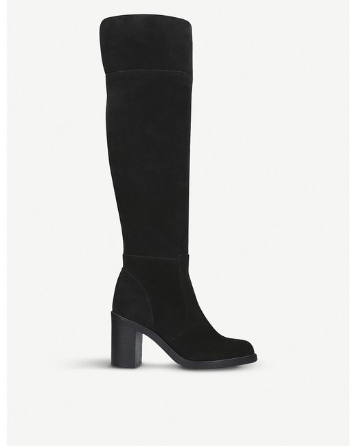 Kurt Geiger - Black Tring Over-the-knee Suede Boots - Lyst
