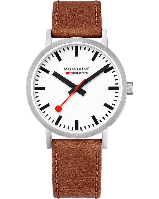 Mondaine - Multicolor A660-30360-16sbt Sbb Classic Leather And Stainless Steel Watch - Lyst