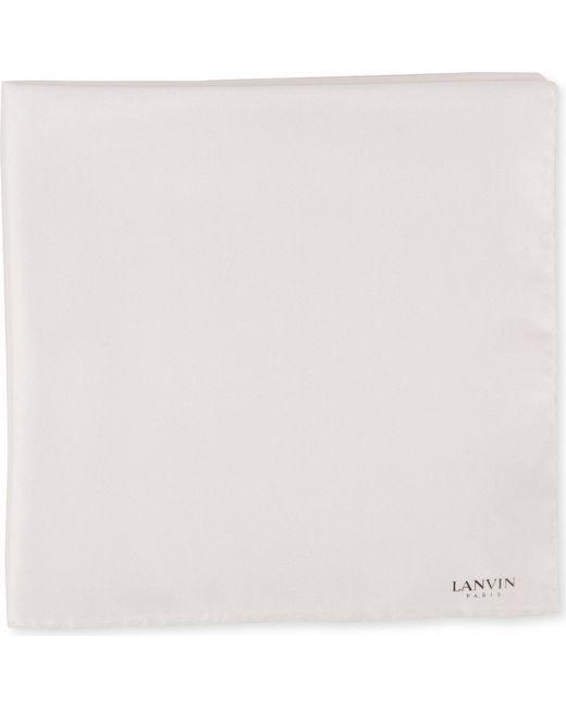 Lanvin - White Silk Pocket Square for Men - Lyst
