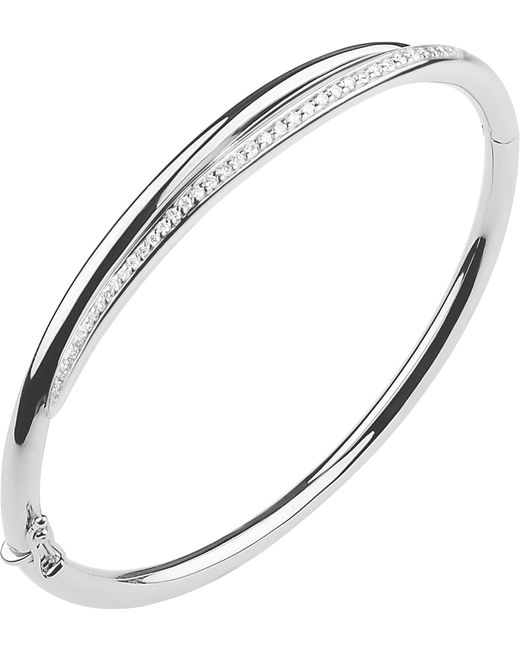 Shaun Leane - Metallic White Feather Sterling Silver And Diamond Cuff Bracelet - Lyst