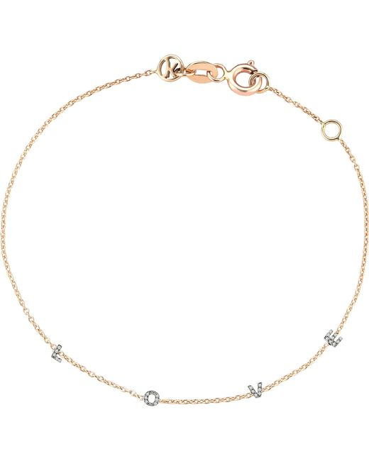 The Alkemistry | Metallic Kismet By Milka Love 14ct Rose-gold And Diamond Bracelet | Lyst
