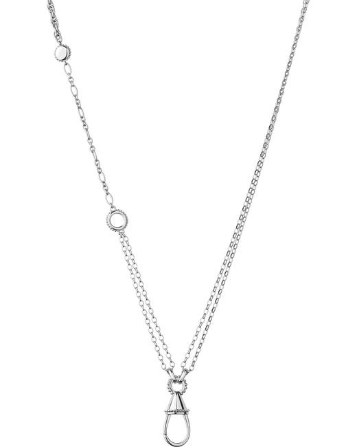 Links of London | Metallic Amulet Carabiner Sterling Silver Necklace | Lyst