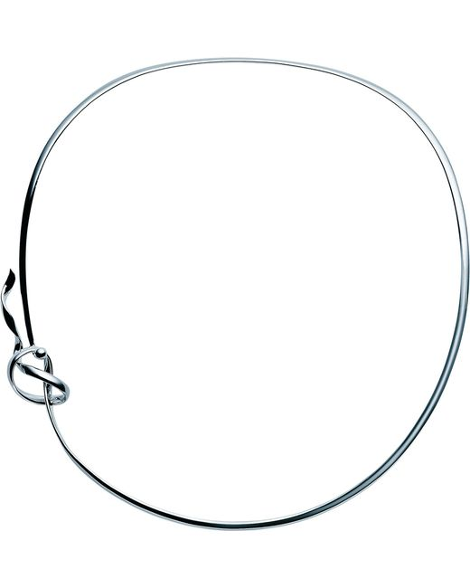 Georg Jensen - Metallic Forget-me-knot Sterling Silver Neck Ring - Lyst