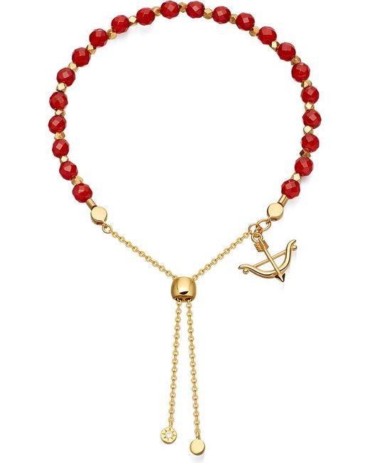 Astley Clarke   Red Carnelian Kula Bow And Arrow Bracelet   Lyst