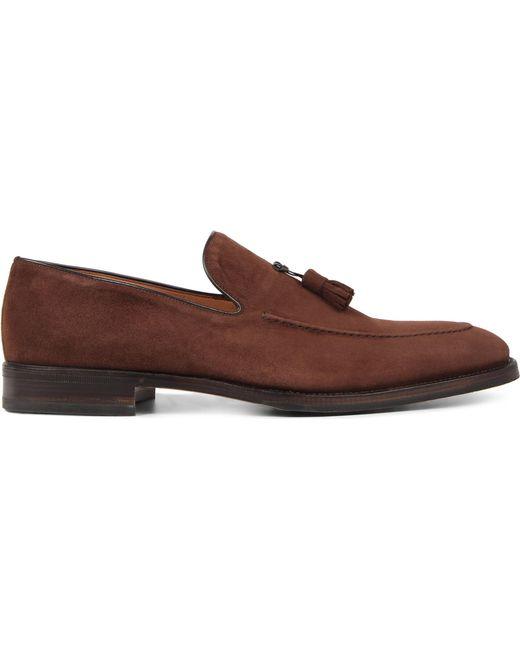 Stemar - Brown Taselled Suede Loafers for Men - Lyst