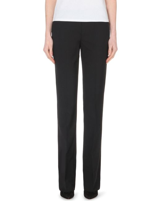 Theory - Black Max Straight-leg Stretch-wool Trousers - Lyst