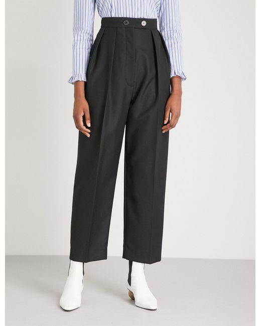 Sandro - Black Havana Woven Trousers - Lyst