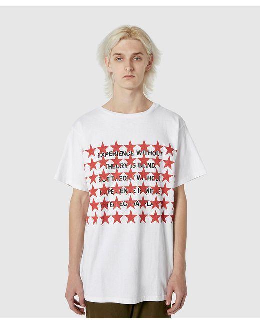 32c6e2dd6cc8 ... Uniform Experiment - White Star Philosophy Big Tee for Men - Lyst ...