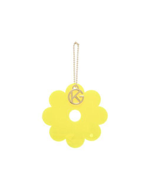Kurt Geiger - Yellow Flower Charm - Lyst