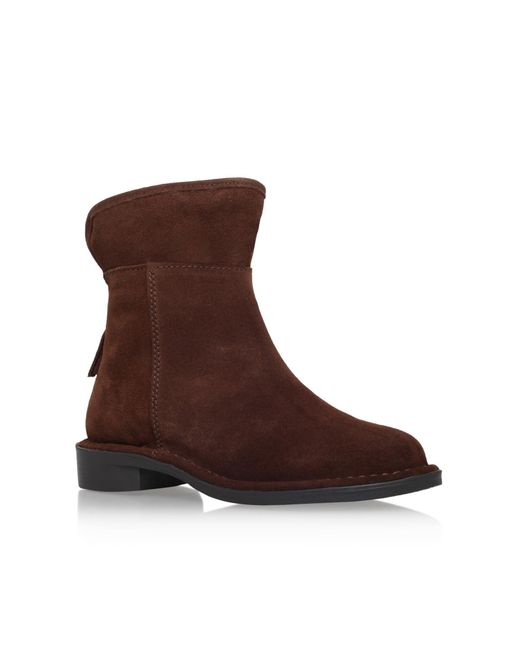 Carvela Kurt Geiger | Brown Ted Flat Ankle Boots | Lyst