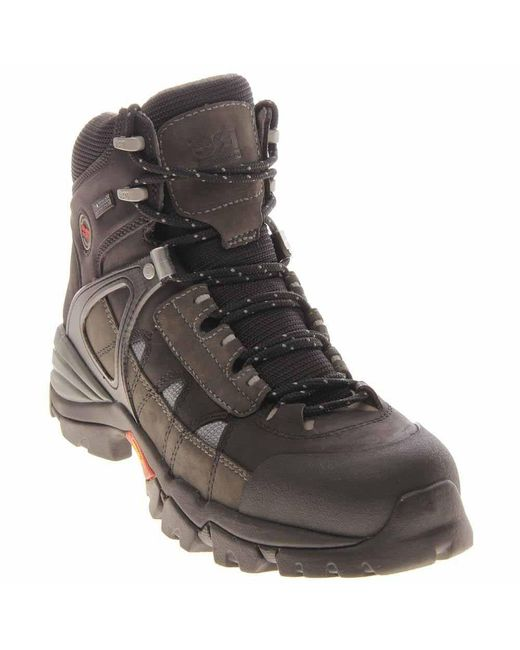 Timberland - Gray Hyperion 6 Inch Soft Toe Work Boots for Men - Lyst